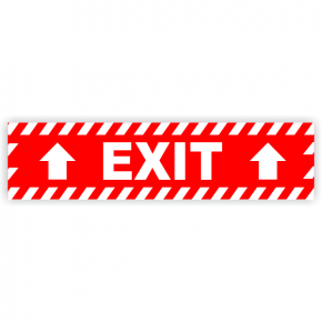 Exit Vinyl Decal Up Arrows