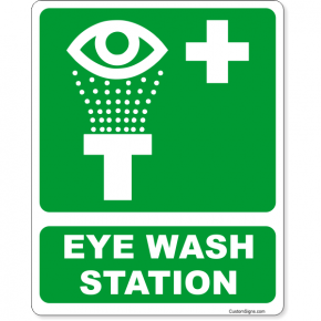 """Eye Wash Station Icon Full Color Sign 