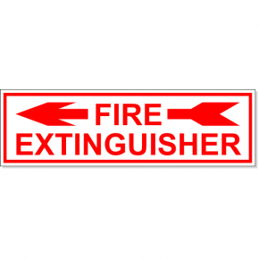 "ire Extinguisher Left Arrow Engraved Plastic Sign | 3"" x 10"""