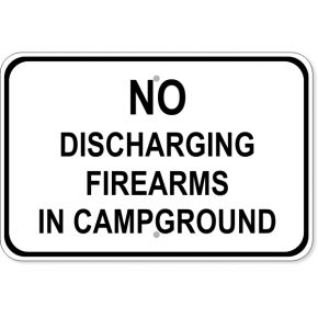 "Firearms Campground Aluminum Sign | 12"" x 18"""