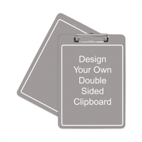 "Full Color Personalized Clipboard (Letter) Dbl Sd 12.5"" x 9"""