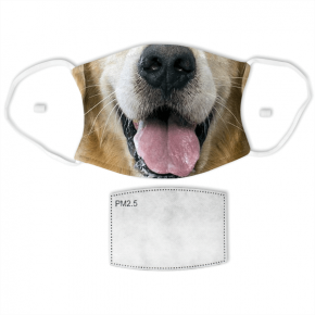 Golden Retriever Adult Face Mask