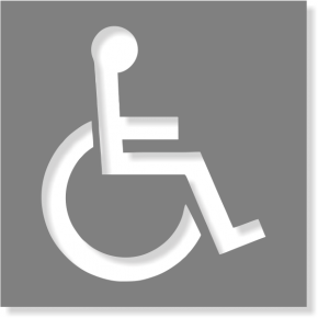 Handicapped Symbol Mylar Stencil | Multiple Sizes