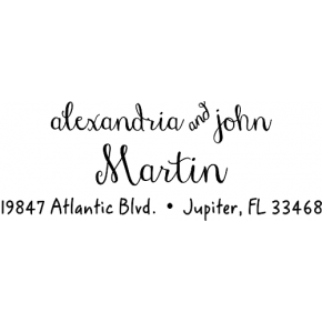 Cursive Handwriting Address Stamp