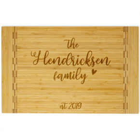 Hendricksen Script Butcher Block Inlay Cutting Board