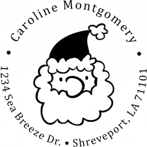 Montgomery Santa Claus Return Address Stamp