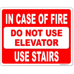 "In Case of Fire Use Stairs Full Color Sign | 8"" x 10"""