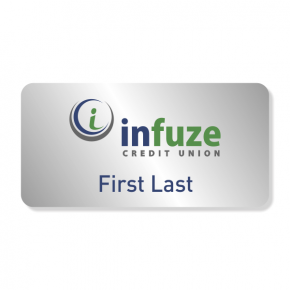 Infuze Credit Union NameTag - First, Last