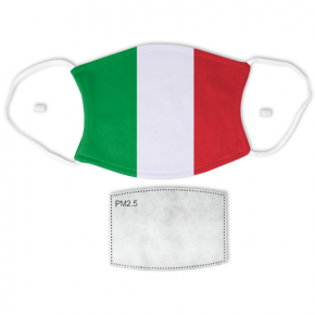 Flag of Italy Adult Size Face Mask