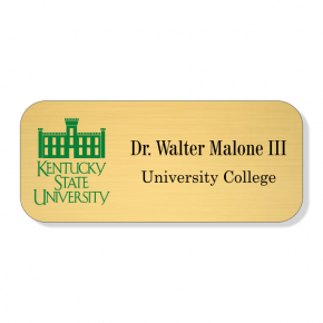 Kentucky State University Gold Name Tag