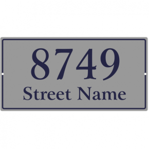 "Large Rectangle Border Home Address Sign w/ Street Name | 8"" x 16"""