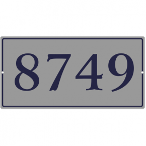 "Large Rectangle Border Home Address Sign | 8"" x 16"""