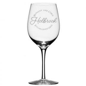 Last Name Personalized Wine Glass