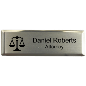 "Law Office Small 3"" x 1"" Executive Holder Name Tag"