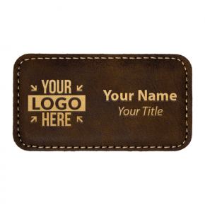 "Leatherette Rectangle 1.75"" x 3.25"" Magnetic Name Tag"
