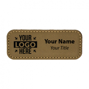 """Leatherette Rectangle 1.25"""" x 3.25"""" Magnetic Name Tag"""