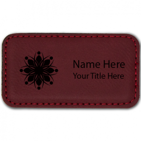 Magnetic Leatherette Rectangle Name Tag