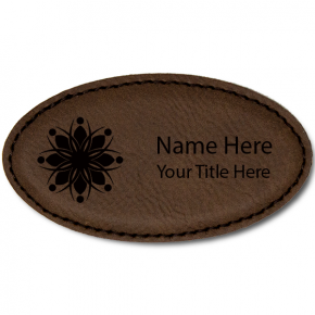 Magnetic Leatherette Oval Name Tag