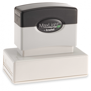 MaxLight Custom Pre-Inked Stamp - MAX-245Z -  Black Ink
