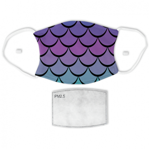 Mermaid Scales Print Adult Face Mask
