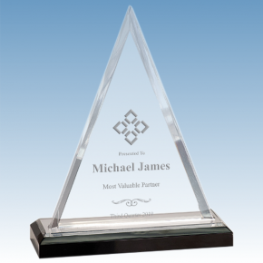 Most Improved Beveled Triangle Acrylic Award