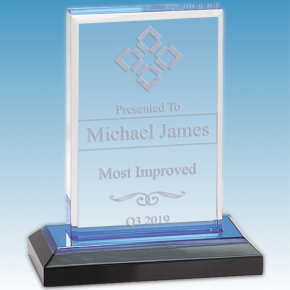 Most Improved Straight Bevel Acrylic Award