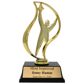 Most Improved Victory Torch Award Trophy