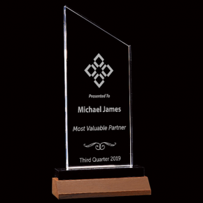 Most Valuable Person Zenith Series Acrylic Award
