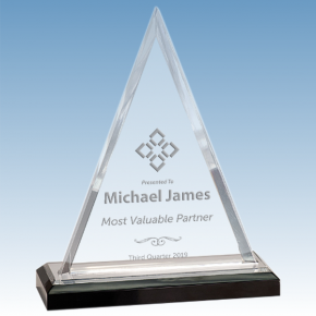 MVP Beveled Triangle Acrylic Award