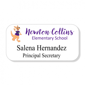 Del Valle ISD - Newton Collins - 2 Line Name Tag