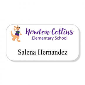 Del Valle ISD - Newton Collins - Name Only Name Tag