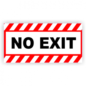 No Exit Vinyl Decal Red Stripes