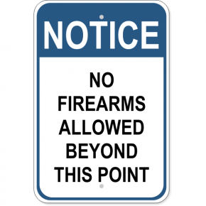 "No Firearms Allowed Aluminum Sign | 18"" x 12"""