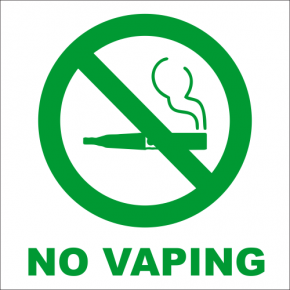 "No Vaping Engraved Sign - 6"" x 6"""