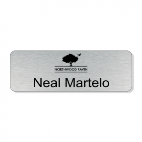 Northwood Ravin - Silver Name Tag