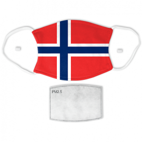 Flag of Norway Adult Size Face Mask