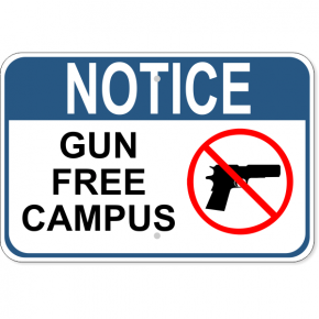 "Notice Gun Free Campus Aluminum Sign | 12"" x 18"""
