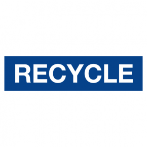 Oakland University 4X16 RECYCLE sign