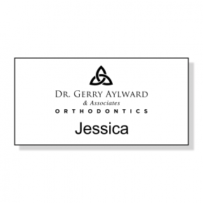 Orthosynetics Dr. Gerry Name Tag