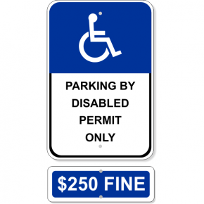 Permit Only Handicap Sign Bundle