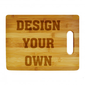 Personalize Your Own Small Horizontal Cutting Board
