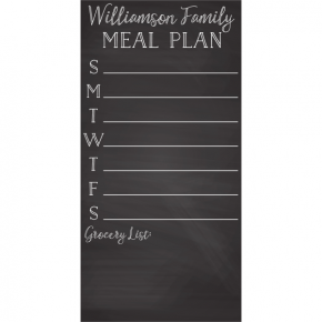 Personalized Family Meal Plan Chalkboard