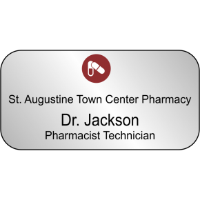 Pharmacist Technician Rectangle Name Tag