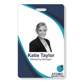 Photo ID Badge - Layers Vertical