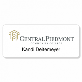 Central Piedmont Comm. College - White Employee Badge - Centered