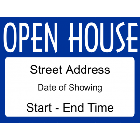 Fancy Open House Sign