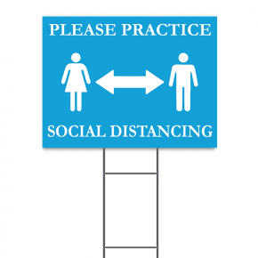"Practice Social Distancing Yard Sign | 18"" x 24"""