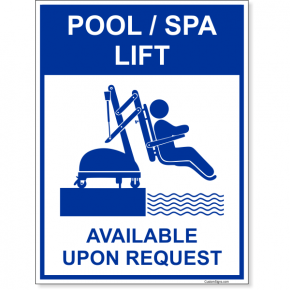 "Pool Lift Available Full Color Sign | 8"" x 6"""
