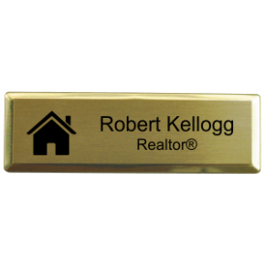 "Real Estate Small Rectangular 3"" x 1"" Executive Holder Name Tag"