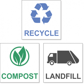 Recycle / Compost / Landfill Decal Bundle